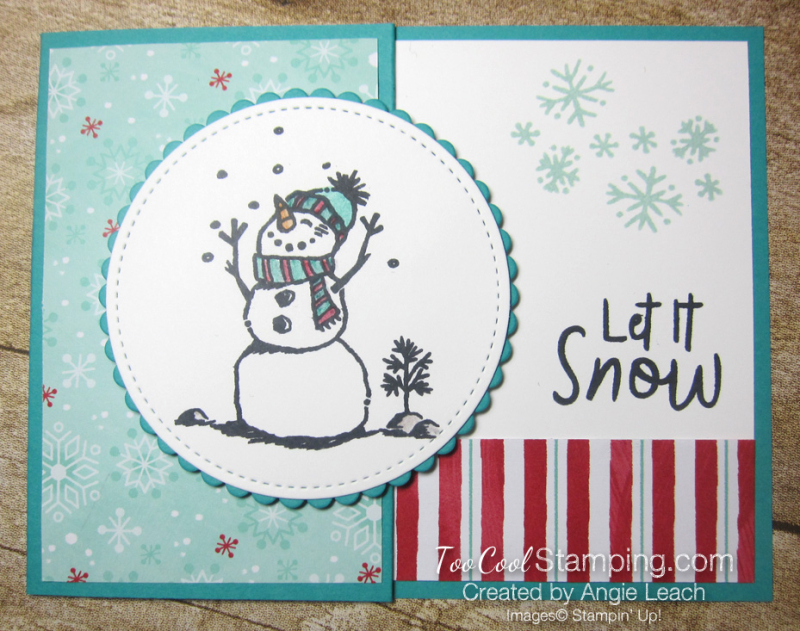 Let it snow gift card holder - pool