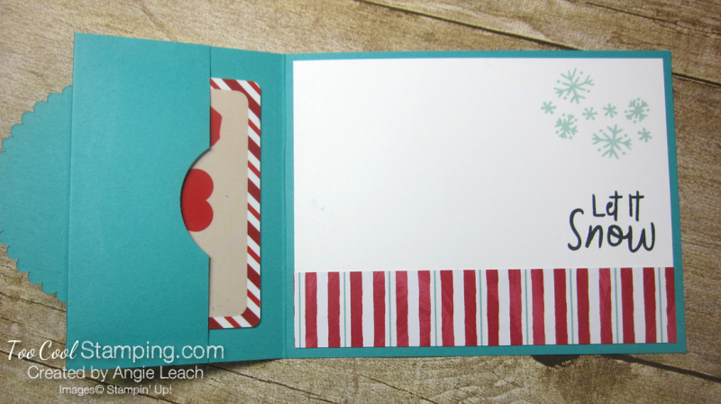 Let it snow gift card holder - pool 3
