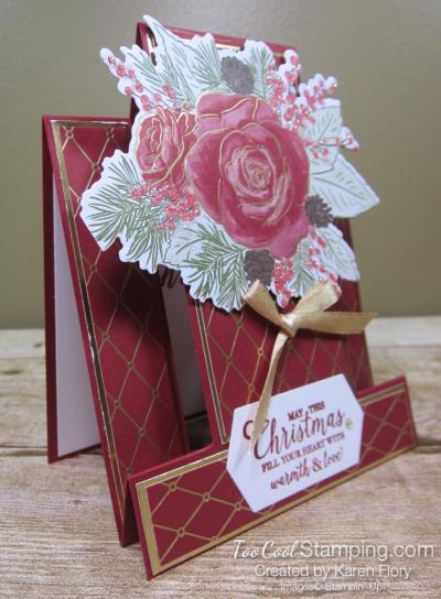 Christmastime is Here step card - karen 2