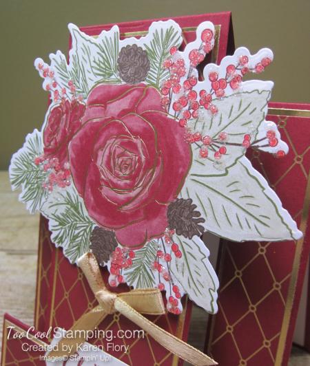 Christmastime is Here step card - karen 3