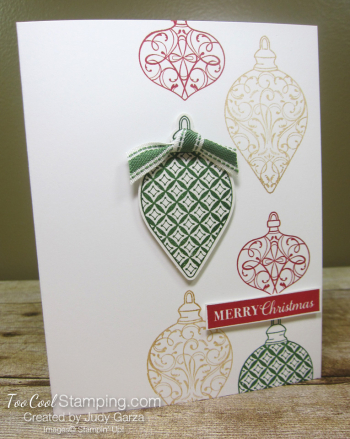 Christmas Gleaming falling ornaments - judy garza