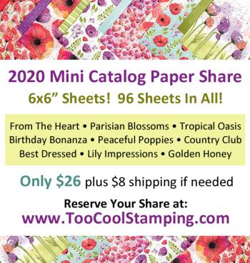 2020 Mini Catalog Paper Share Banner