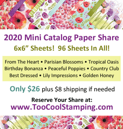 2020 Mini Catalog Paper Share Banner