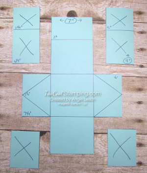 Triangle box template 2