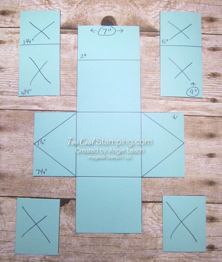 Triangle box template 2