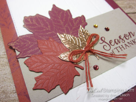 Come to gather layered leaves - merlot 3