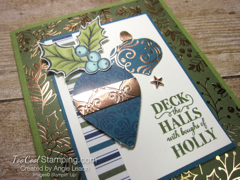 Christmas gleaming boughs of holly - olive 3