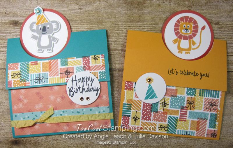 Birthday bonanza circle fold - two cool