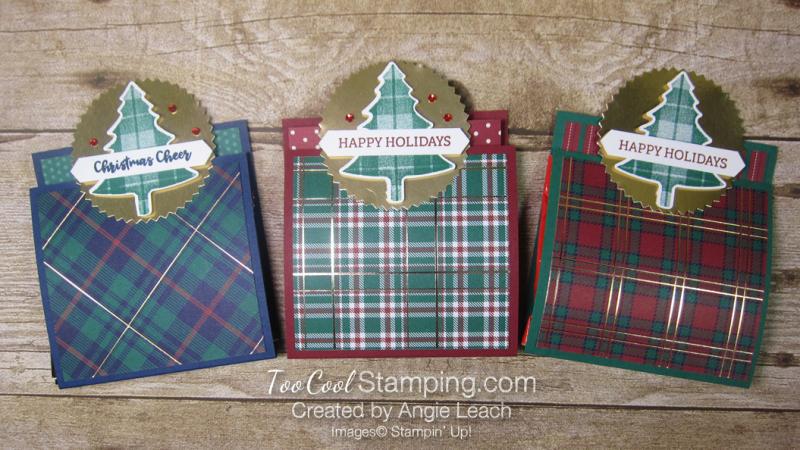Perfectly Plaid matchbook treats - three cool