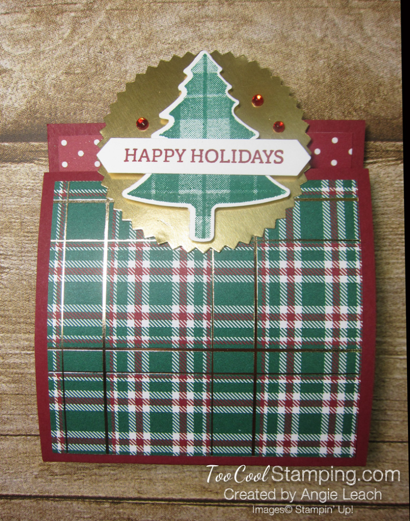 Perfectly Plaid matchbook treats - cherry