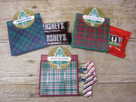 Perfectly Plaid matchbook treats - three cool with candy