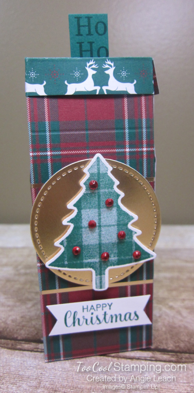Perfectly Plaid tic tac treats - pine tree