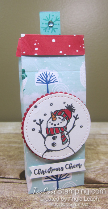 Perfectly Plaid tic tac treats - snowman