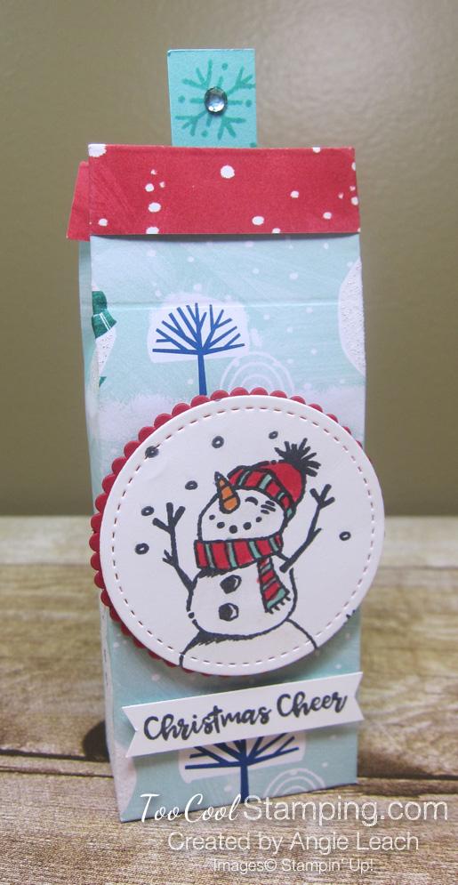 Perfectly Plaid tic tac treats - snowman