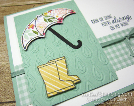 Under my umbrella floral - mint 3