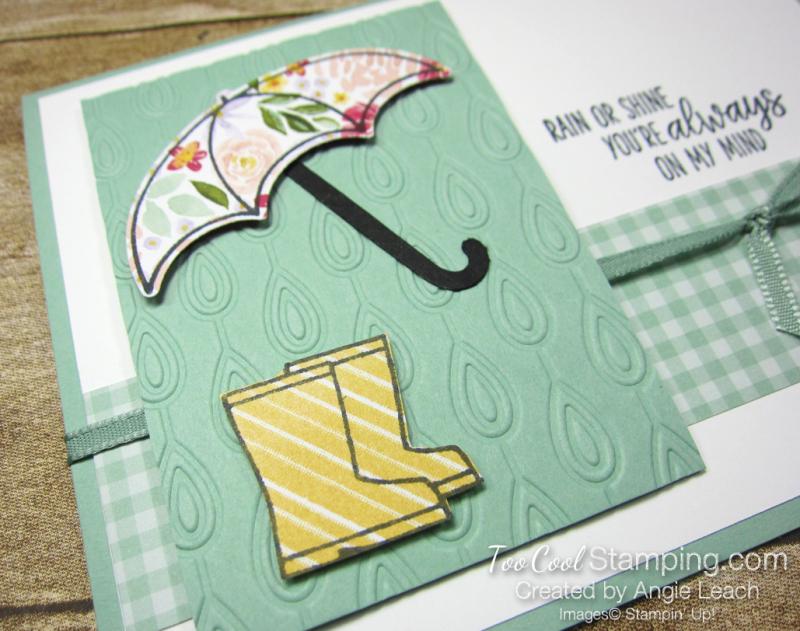 Under my umbrella floral - mint 3