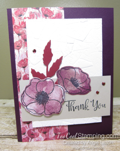Peaceful poppies stone - blackberry