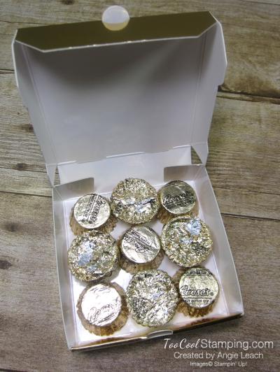 Mini pizza boxes - navy spruce 3