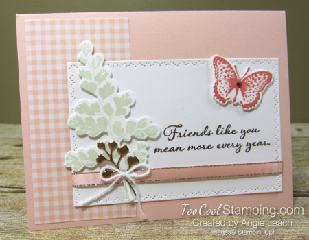 Positive Thoughts gingham copper - petal