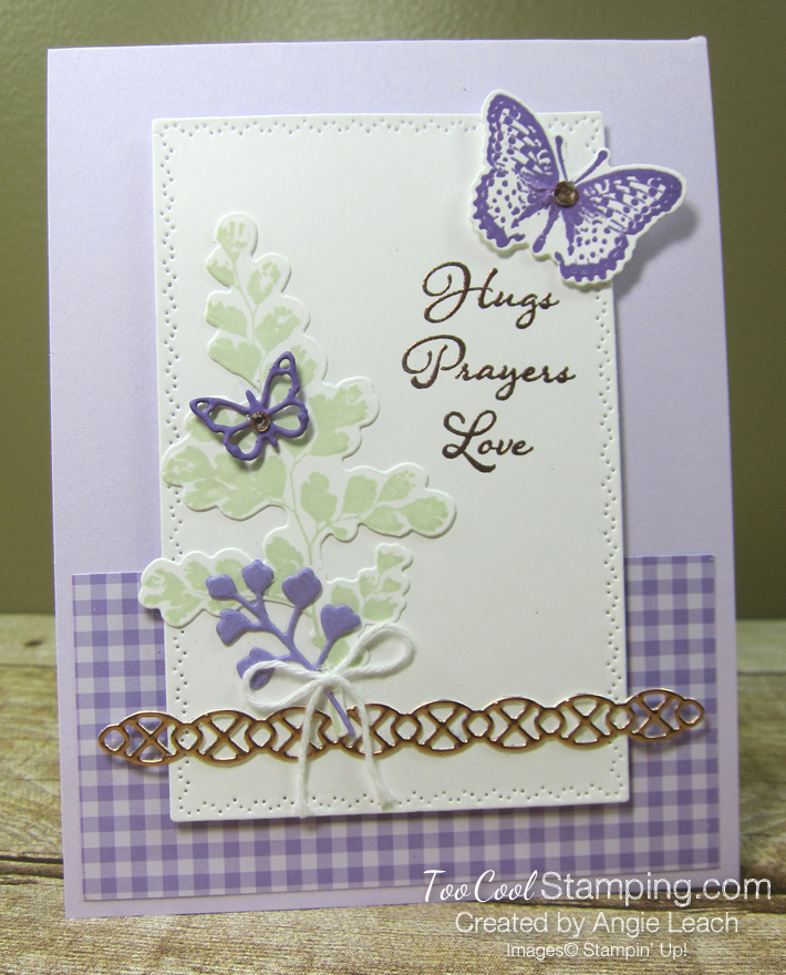 Positive Thoughts gingham copper - heather