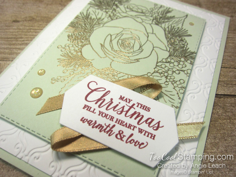 6 christmastime is here - sea foam gold emboss 2