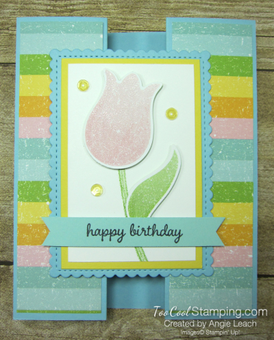 Pleased as punch tulip gate fold - balmy blue 1