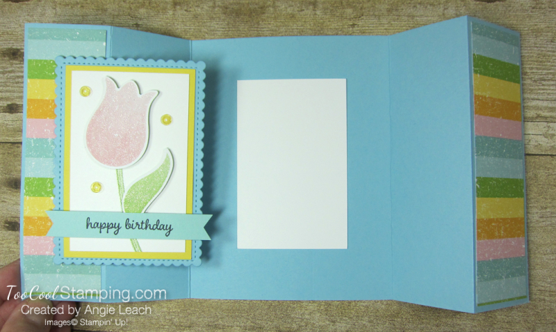 Pleased as punch tulip gate fold - balmy blue 4