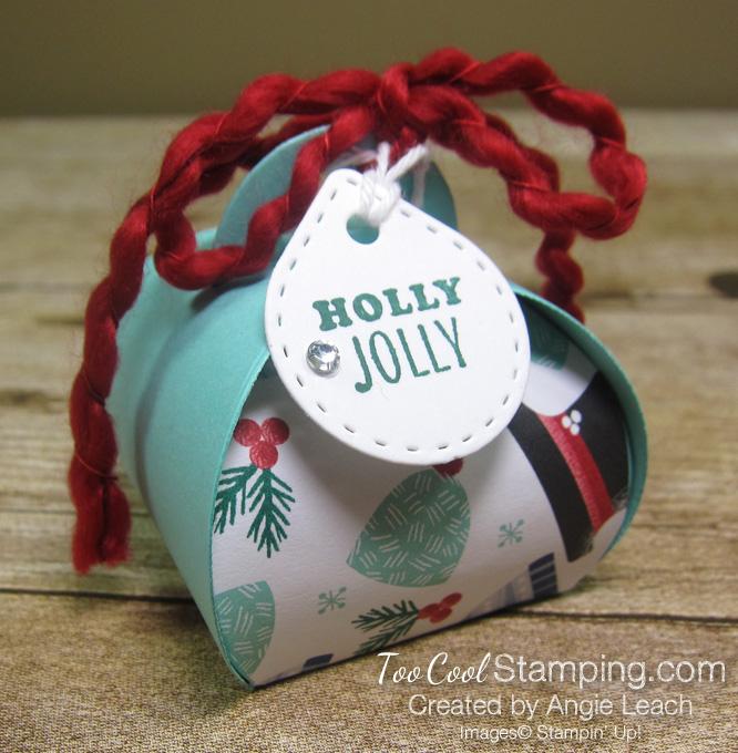Let it snow curvy keepsakes box - holly jolly