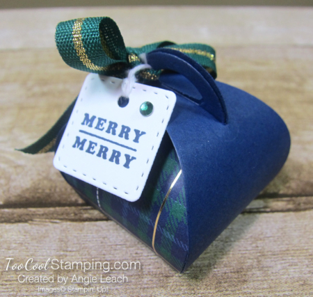 Wrapped in plaid curvy keepsakes box - merry merry