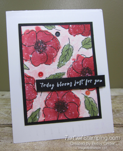 Painted poppies watercolor - crider 1