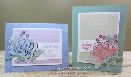 Flowering foils sponged blooms - two cool