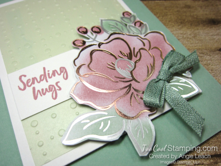Flowering foils sponged blooms - mint 3