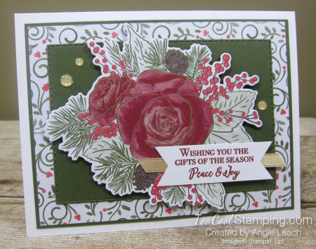 9 christmastime is here - swirly with die-cut