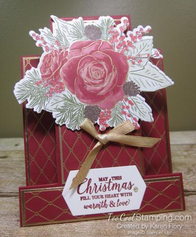 Christmastime is Here step card - karen