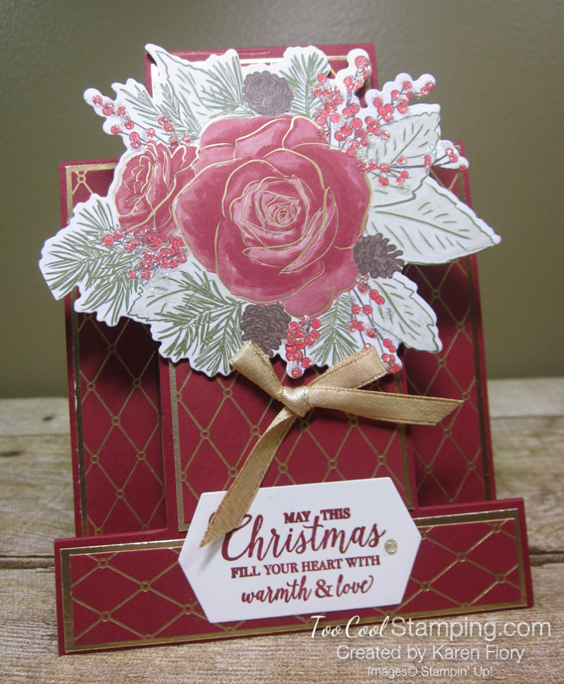Christmastime is Here step card - karen