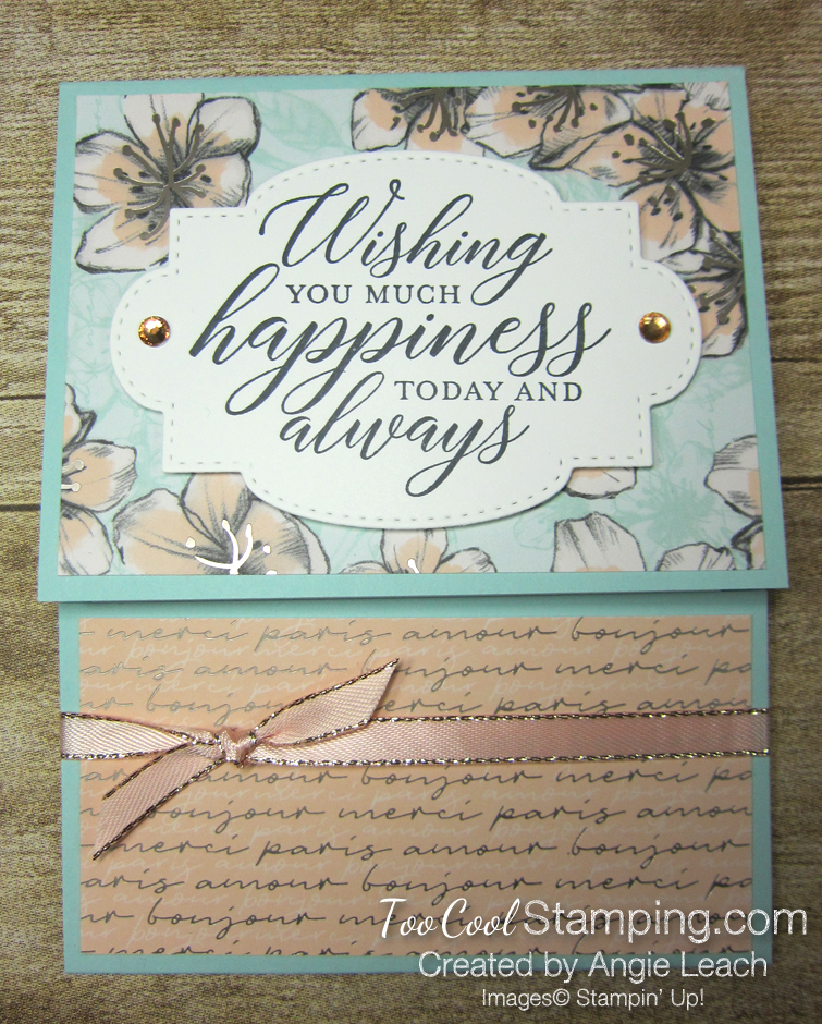 So Sentimental Happiness Gift Card Holder - parisian 1