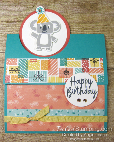 Birthday bonanza circle fold - koala 1
