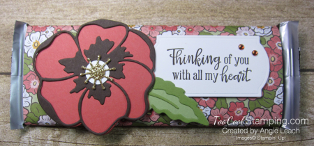 Ornate garden chocolate bar - poppies