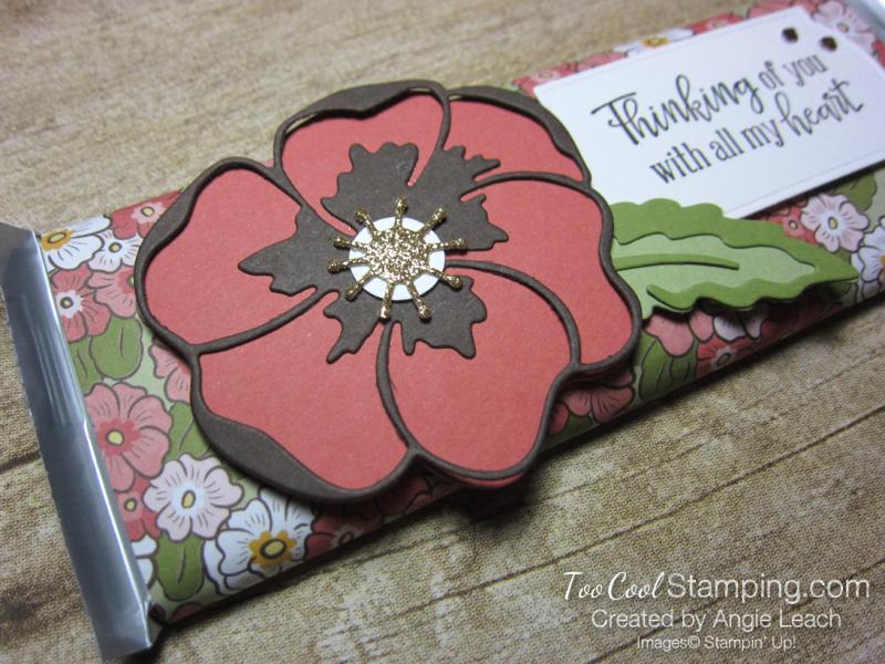 Ornate garden chocolate bar - poppies 2