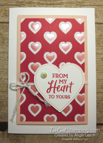 From My Heart gift set - from my heart card 1