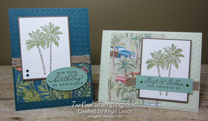 Tropical Oasis with coastal weave - two cool