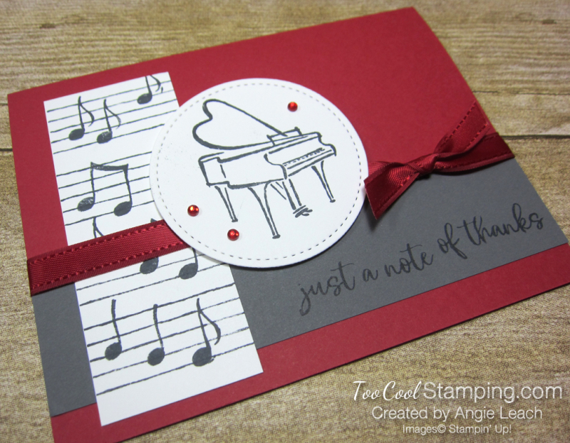 Music from my heart - note of thanks 2