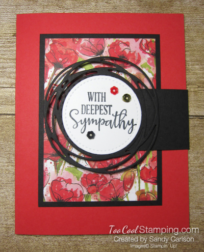 Peaceful poppies sympathy - carlson