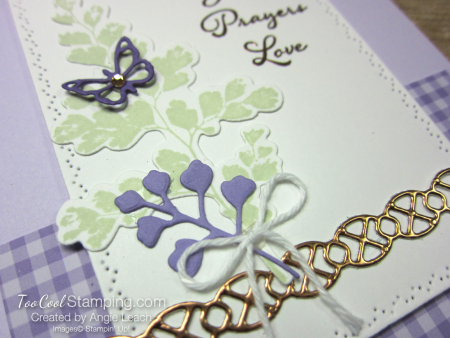Positive Thoughts gingham copper - heather 3