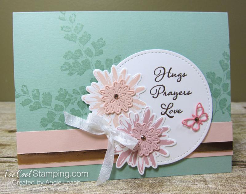 Positive Thoughts hugs prayers - mint