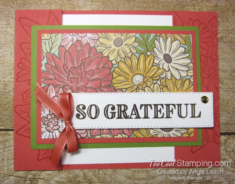 Ornate Garden Bridge Card - terracotta 1