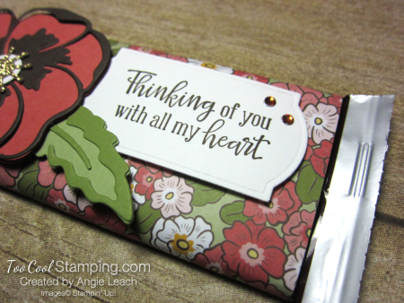 Ornate garden chocolate bar - poppies 3