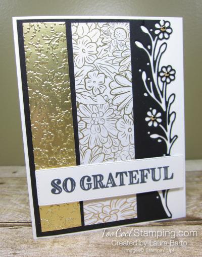 10. ornate garden So Grateful Black & Gold  - barto