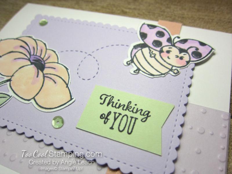 Little Ladybug so very vellum - purple posy 3