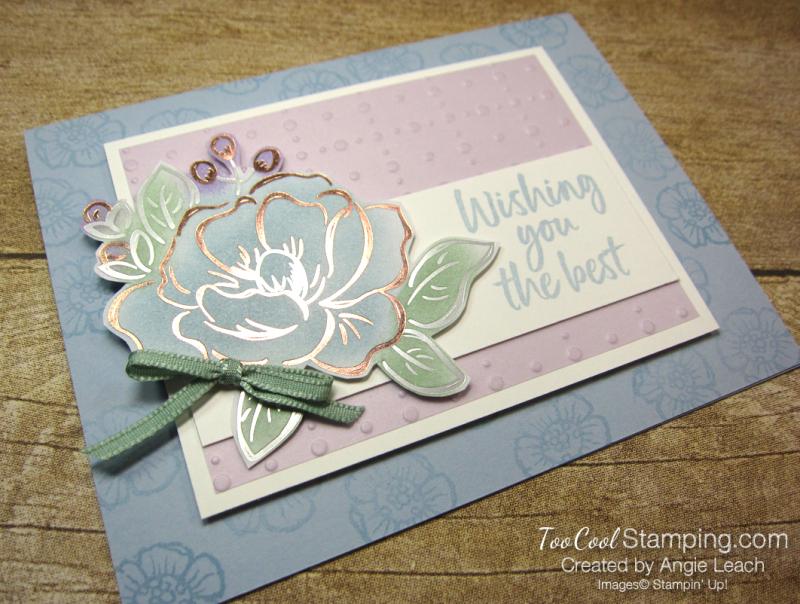 Flowering foils sponged blooms - seaside 2